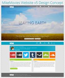 MikeMovies Website v5 Design Concept