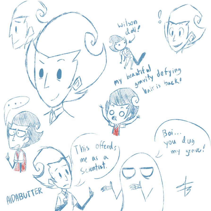 Wilson Doodles 3 by xXaldabutterXx