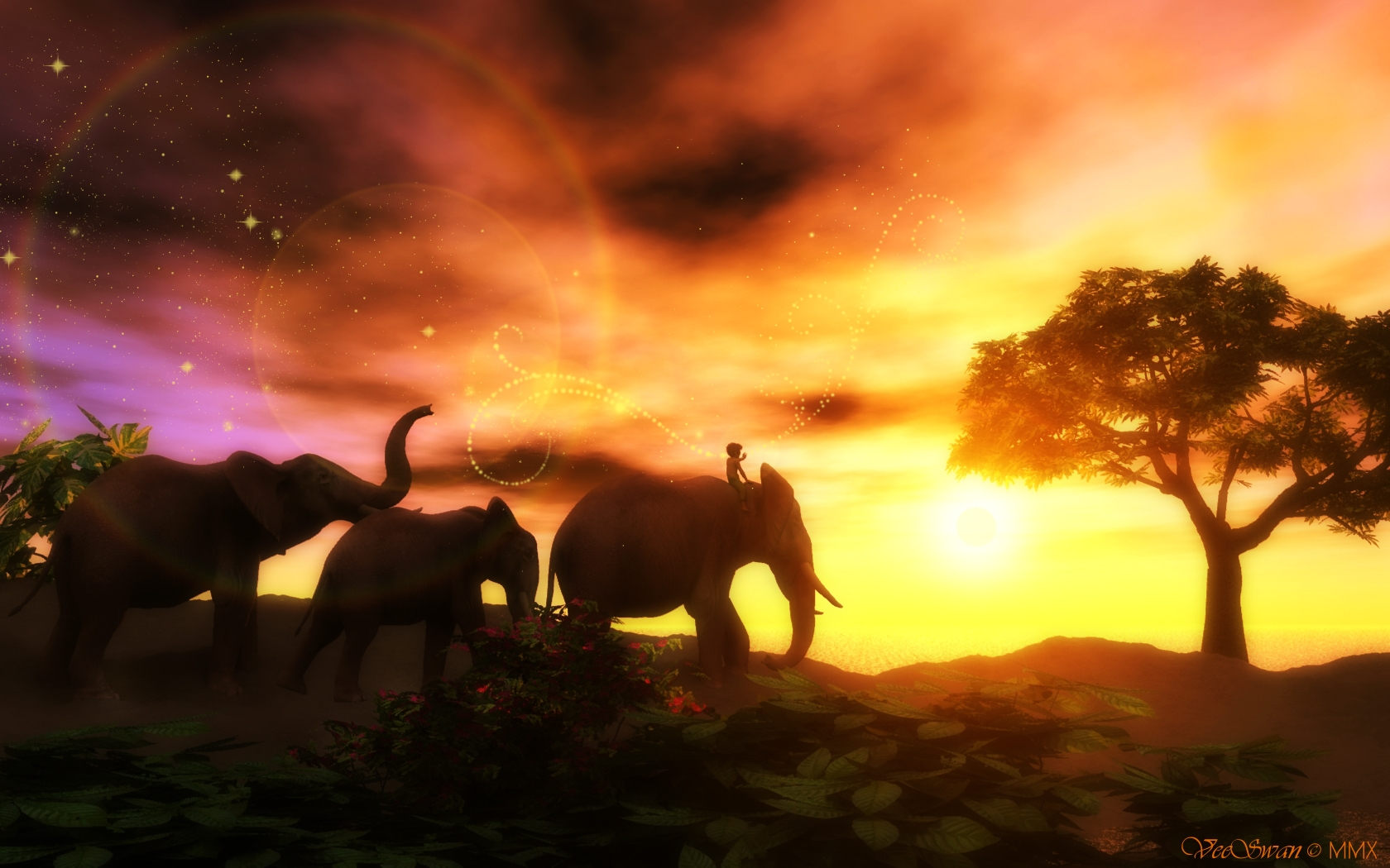 indian sunset by veeswan on deviantart