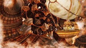 Steampunk World by VeeSwan