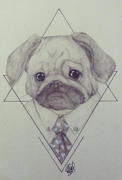 thug pug. by ryupon