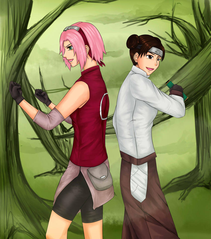 R: Sakura Tenten by jeccie18