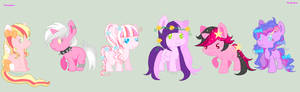 CLOSED - Pink Themed Mane 6 Adopts