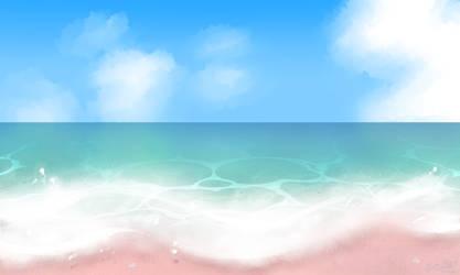 Foamy Tropical Pink Sand Beach