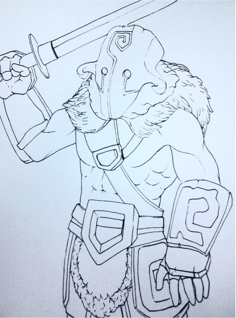 DOTA2 Juggernaut Rough draft by JasonAvenger23