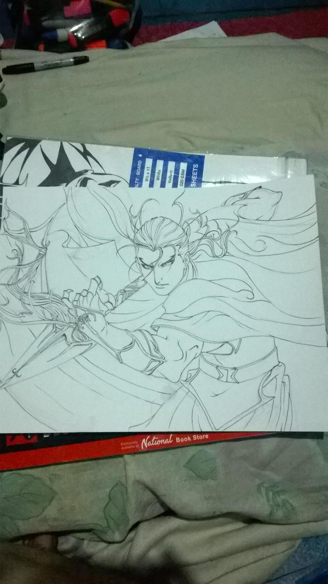 Daryun inked by JasonAvenger23