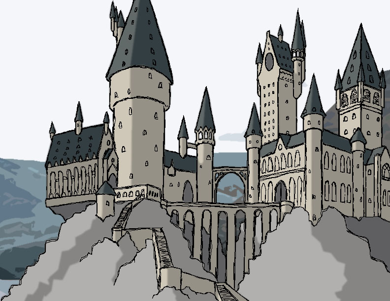 Gothic Architecture Easy Drawing