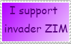 i support invader ZIM stamp by invaderstar99