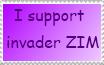 i support invader ZIM stamp by invaderstar99