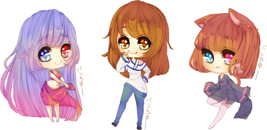 Mini Chibis by fuwaffy