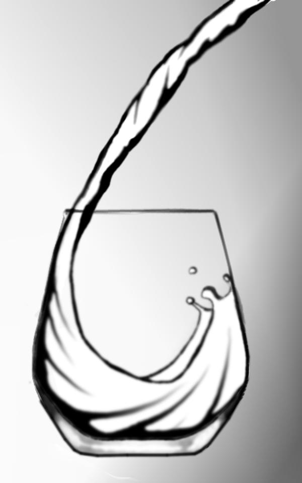 cup of water speed drawing by scott b on deviantart