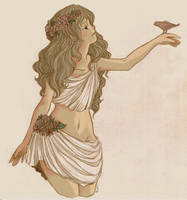 Persephone, Goddess of Spring by Powerkitty