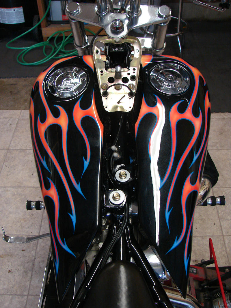 Tribal flame bike by itva on deviantART