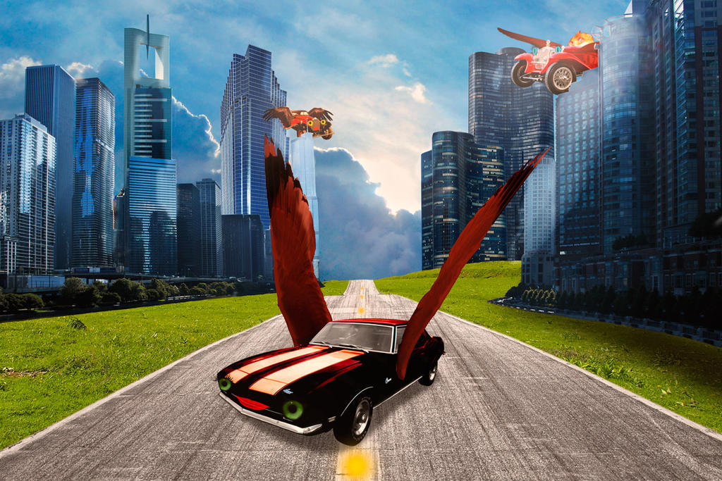 Flying cars by Helz-Design