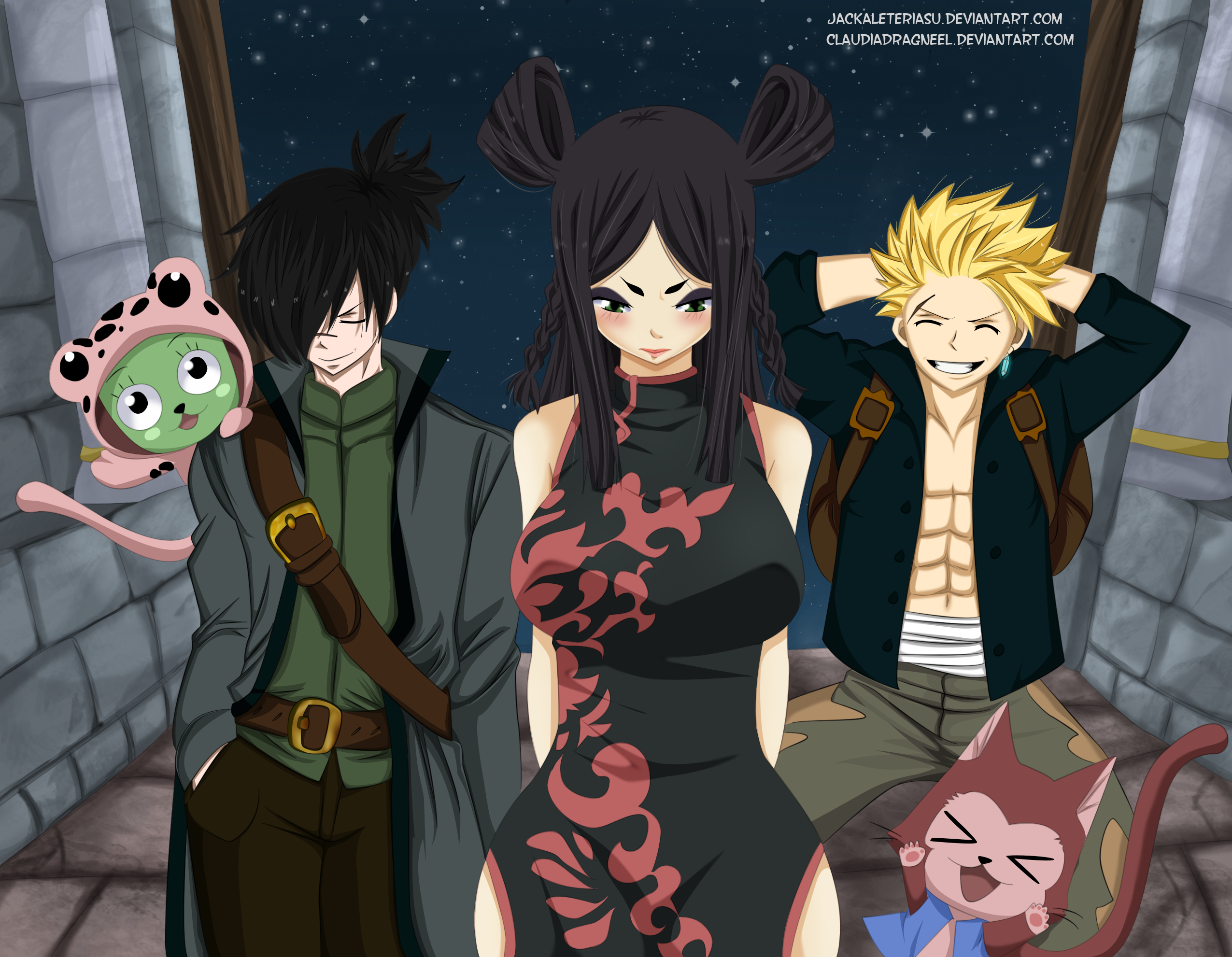 fairy tail 416 minerva sting and rogue collab by jackaleteriasu on deviantart