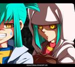 Yu-Gi-Oh 5Ds Ruka and Rua