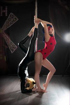 Ladybug pole dance AU