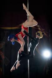 Ladybug pole dance AU 2