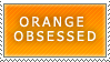 Orange Obsessed Stamp by ryus-girl