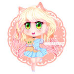 Kitten OC Chibi| @katnip on GASR by rosiechann