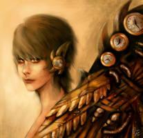 Steampunk Angel by DZIU09