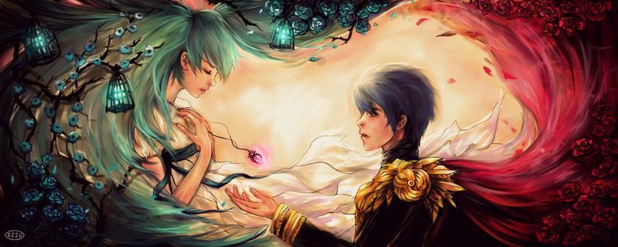 Miku and Kaito = Romeo and Juliet by DZIU09