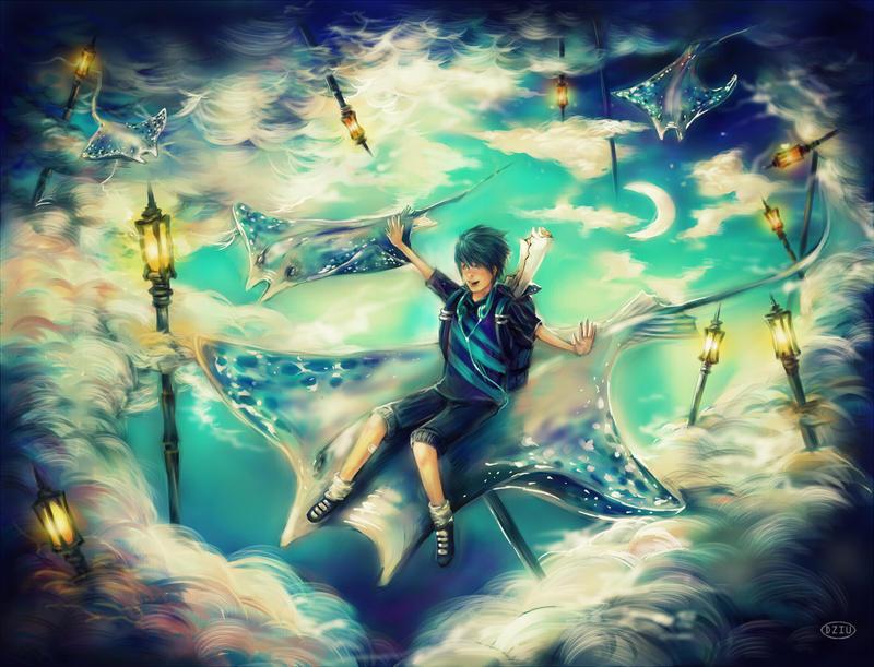 Wonderful skyworld by DZIU09