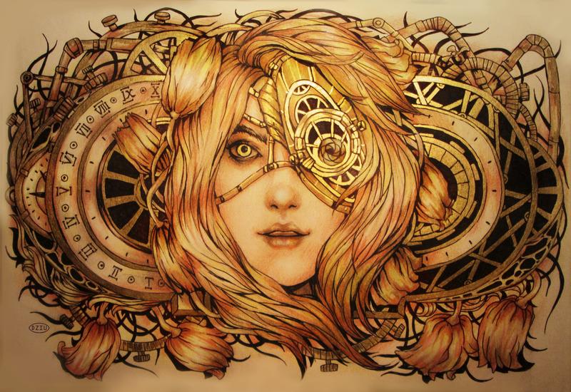 Steampunk  Gentle Gold by DZIU09