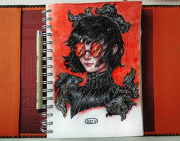 Red X Black fish