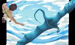 Dive - Eragon and Saphira by Cardava