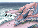 Sleeping in Sand by Cardava