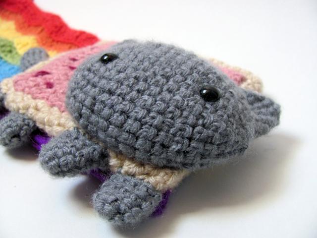Nyan Cat Scarf Crochet Pattern Free : Amigurumi Pop Tart Cat Scarf 3 by MevvSan on DeviantArt