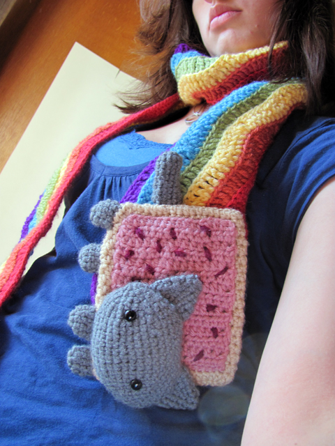 Amigurumi Nyan Cat Scarf Free Fella By Mevvsan On Deviantart