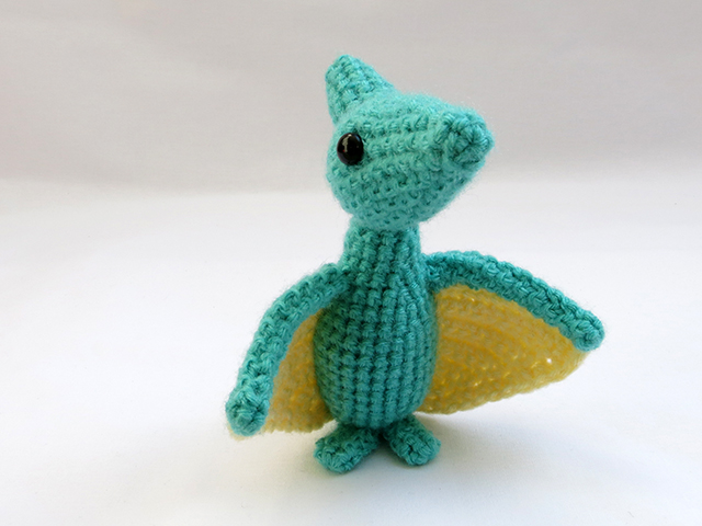 Amigurumi Dinosaur Pattern Free : Amigurumi Pterodactyl Dinosaur 1 by MevvSan on DeviantArt