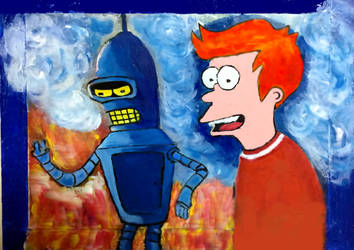 Fry and Bender by Keatsmuse
