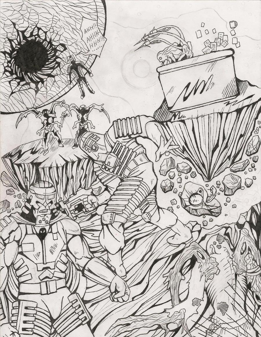 Line Art Space : Dead space ctc line art by raijin on deviantart