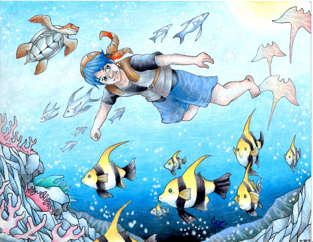 Serge swimming with the fishes by raijin 1378 on deviantart for Swimming with the fishes