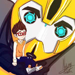 Bumblebee and Raf - Transformers Prime
