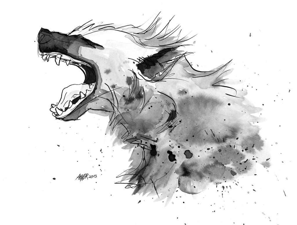 hyena by anker illustration on deviantart. Black Bedroom Furniture Sets. Home Design Ideas