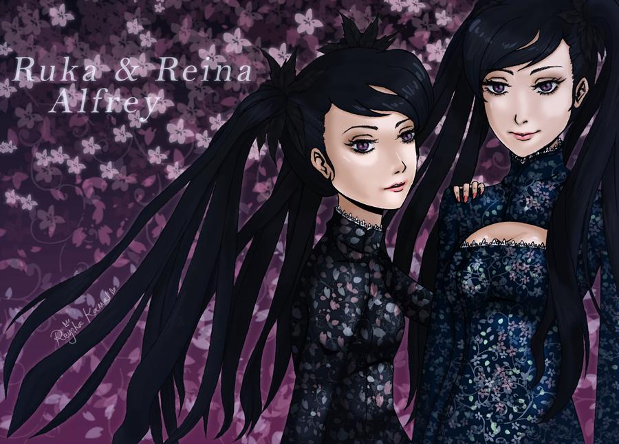 OC: Ruka + Reina Alfrey by Reysuke-chan