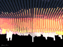 3D Sunset Abstract Landscape by JenniNexus