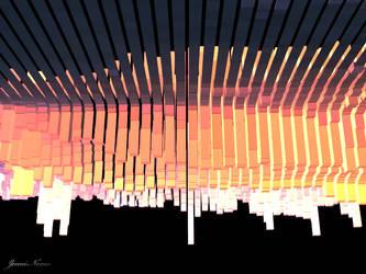 3D Sunset Abstract Landscape by JenniNexus