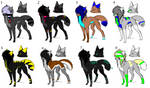Scene Wolf Adoptables Batch -CLOSED-