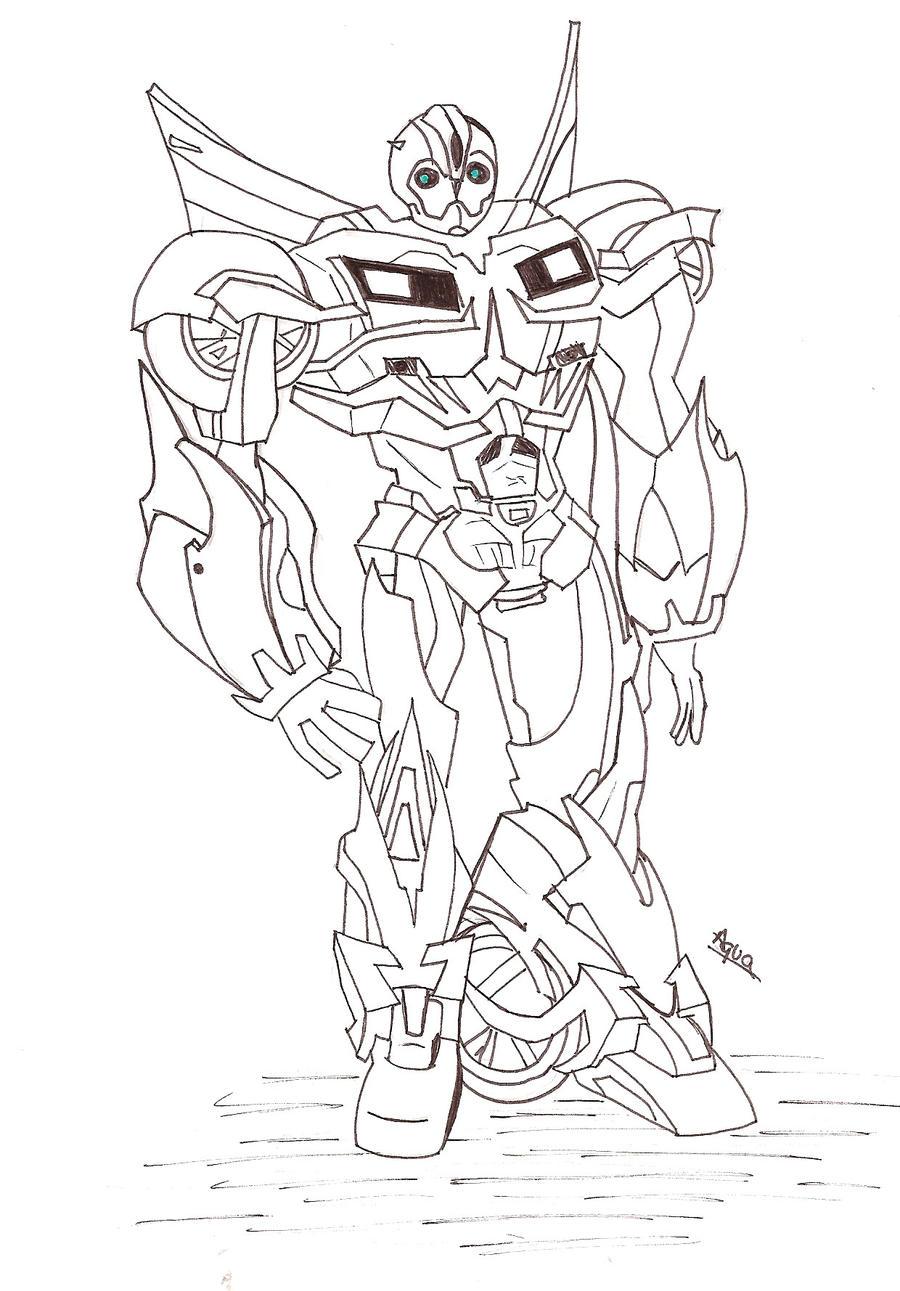Único Colorear Transformers Bumblebee Cresta - Dibujos de Animales ...