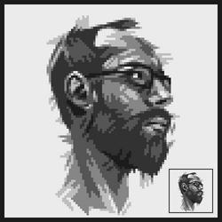 Selbstportrait pixel