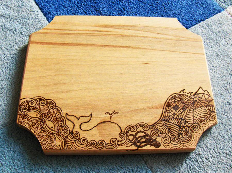 Marine cutting board (pyrography)
