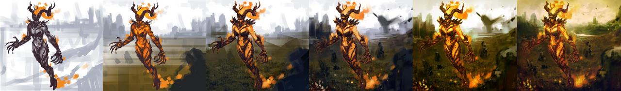 Flame Atronach steps by nelsoncosentino