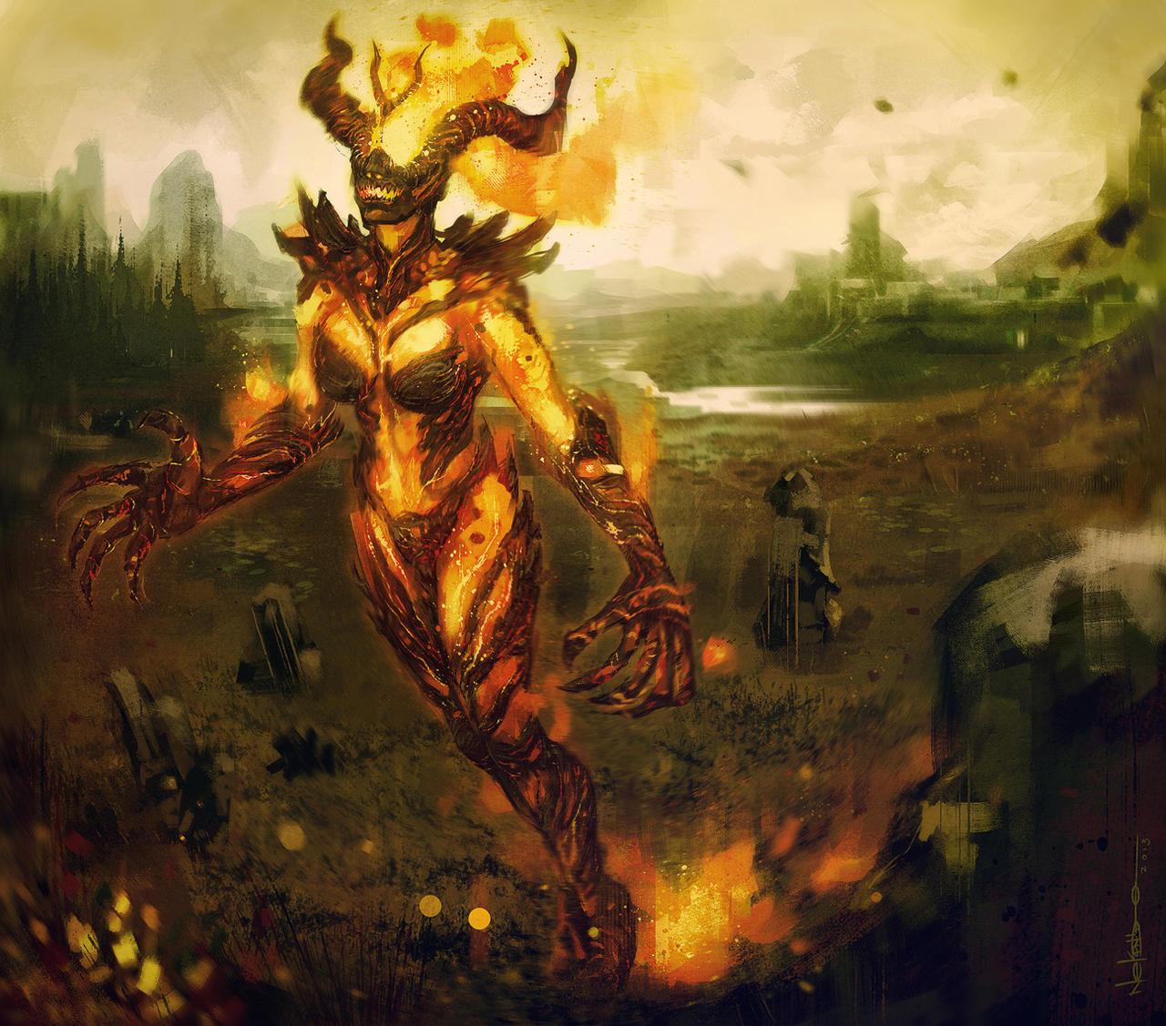 Flame Atronach by nelsoncosentino