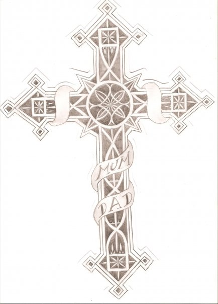 gothic cross design tattoo by thorn73y on deviantart. Black Bedroom Furniture Sets. Home Design Ideas
