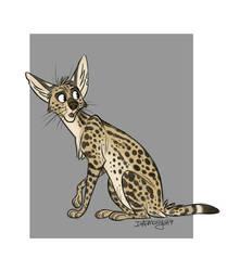 Serval by Daemonysh-Art